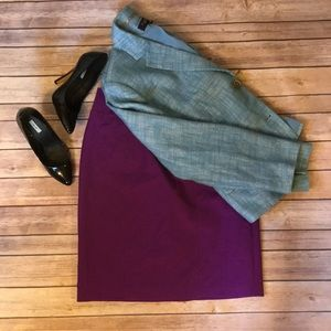 Worthington Purple Pencil Skirt